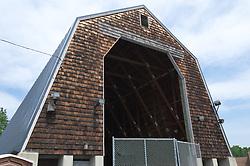 Third Photo Shoot Progress View. CT-DOT East Granby Salt Shed Rehabilitation Project. No. 039-097