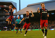7. Pavel Pogrebnyak and Reading goal celebration during the Sky Bet Championship match between Fulham and Reading at Craven Cottage, London, England on 17 January 2015. Photo by Matthew Redman.
