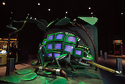An animated robot chameleon is part of an exhibit called the Robot Zoo.