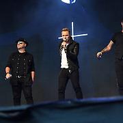 BOYZONE band Shane Lynch, Mikey Graham, Ronan Keating, Keith Duffy perform live at Kew The Music Festival 2018 on 14 July 2018, London, UK.