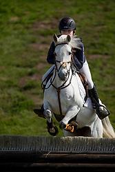 Witman Sverre, (BEL), Snow II<br /> Nationale Finale AVEVE Eventing Cup voor Pony's<br /> Minderhout 2016<br /> © Dirk Caremans