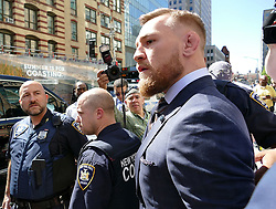 Conor McGregor creates media storm outside NY courthouse. 14 Jun 2018 Pictured: Conor McGregor. Photo credit: KAT / MEGA TheMegaAgency.com +1 888 505 6342