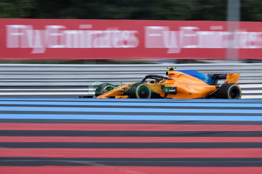 June 23, 2018 - Le Castellet, Var, France - McLaren 2 Driver STOFFEL VANDOORNE (BEL) in action during the Formula one French Grand Prix at the Paul Ricard circuit at Le Castellet - France (Credit Image: © Pierre Stevenin via ZUMA Wire)