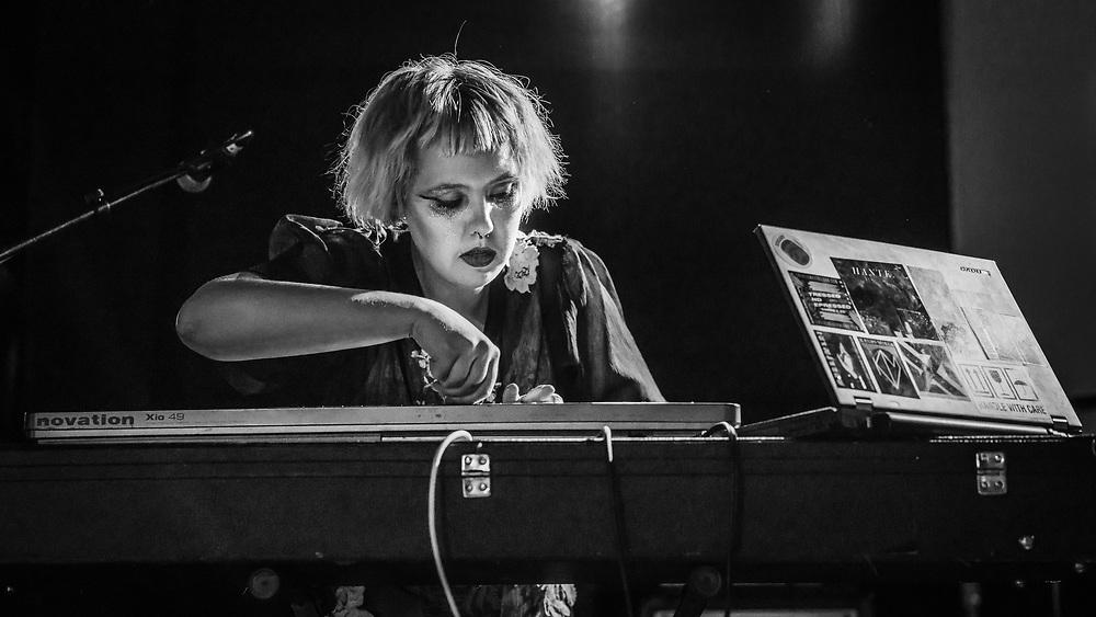 Sólveig Matthildur of Icelandic goth-punk band Kælan Mikla at Iceland Airwaves