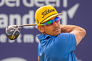 Rafa Cabrera Bello (ESP) drives on the 12th hole during the final round of the Aberdeen Standard Investments Scottish Open at The Renaissance Club, North Berwick, Scotland on 14 July 2019.