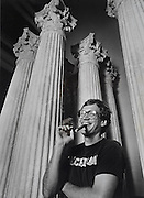 A younger David Letterman, in typical off stage fashion: cigar, jeans and t-shirt.