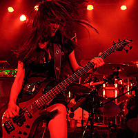 doris yeh of chthonic performing live at manchester academy 2, Manchester, uk, 2010-11-23
