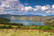 Cosens Bay on Kalamalka Lake from Kalamalka Lake Provincial Park near Vernon, British Columbia, Canada