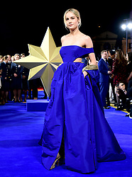 Brie Larson attending the Captain Marvel European Premiere held at the Curzon Mayfair, London. Picture date: Wednesday February 27, 2019. Photo credit should read: Ian West/PA Wire