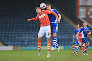 Jacob Blyth, Ollie Lancashire during the Sky Bet League 1 match between Rochdale and Blackpool at Spotland, Rochdale, England on 16 April 2016. Photo by Daniel Youngs.