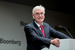 © Licensed to London News Pictures. 11/03/2019. London, UK. Shadow Chancellor John McDonnell delivers a speech to business leaders in Bloomberg Headquarters in London ahead of Chancellor Philip Hammond's Spring Statement later this week. Photo credit: Dinendra Haria/LNP