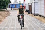 Nederland, Nijmegen, 12-7-2019Militair kamp Heumensoord waar tijdens de nijmeegse vierdaagse ongeveer 7500 soldaten uit vele landen bij elkaar zitten en van hieruit het parcours beginnen en eindigen is er klaar voor. Ook de pleisters en het verband in de medische tent waar blaren en kapotte voeten worden behandeld staan klaar .Foto: Flip Franssen