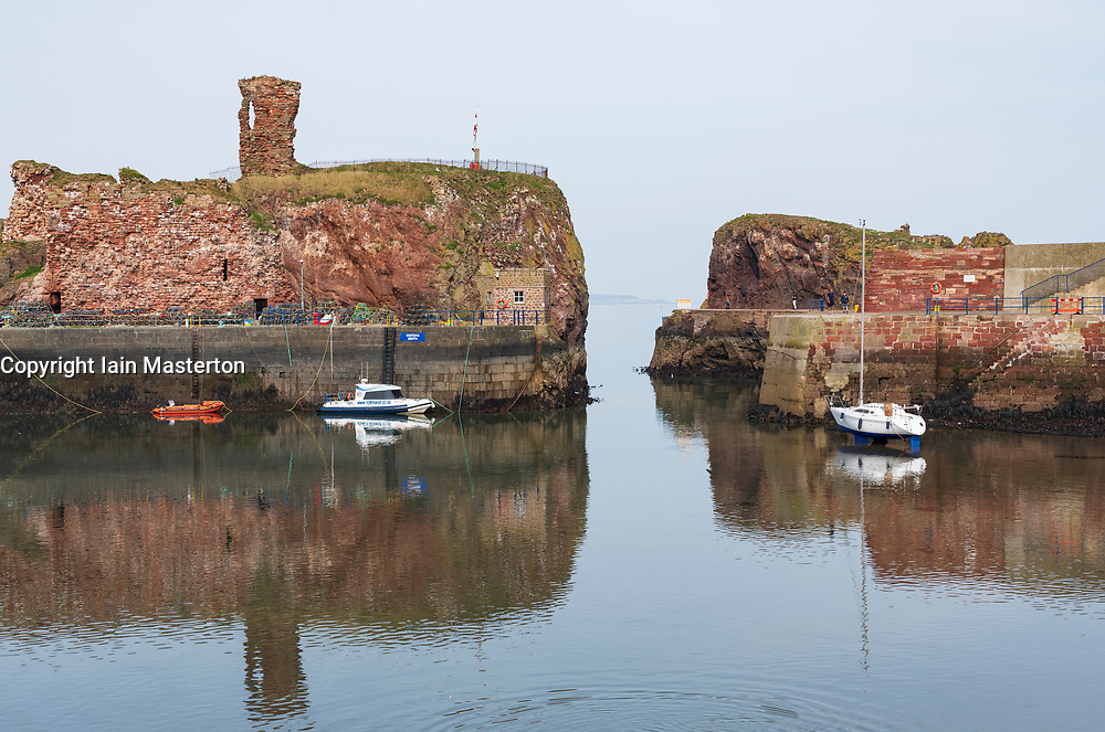 View of harbour at Dunbar in East Lothian, Scotland, UK