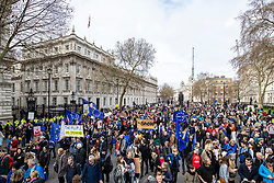 "© Licensed to London News Pictures. 23/03/2019. London, UK. An estimated one million people march through central London to demand that government allow a ""People's Vote"" on the Brexit deal. Several key votes will be held in Parliament in the coming week. Photo credit: Rob Pinney/LNP"