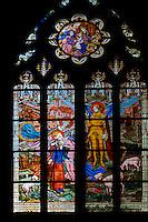 France, Region Centre-Val de Loire, Loiret (45), Orléans, les vitraux de la cathédrale Sainte-Croix // France, Loiret, Orleans, Sainte-Croix cathedral, stained glass window