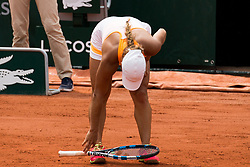 Yulia Putintseva plays. Garbine Mugura VS Yulia Putintseva, Garbine Mugura Win during French Tennis Open at Roland-Garros arena on June 02, 2017 in Paris, France. Photo by Nasser Berzane/ABACAPRESS.COM