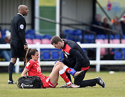 Rosella Ayane of Bristol City Women receives treatment - Mandatory by-line: Paul Knight/JMP - Mobile: 07966 386802 - 28/02/2016 -  FOOTBALL - Stoke Gifford Stadium - Bristol, England -  Bristol City Women v Yeovil Town Ladies - FA Cup fourth round
