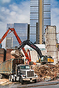 United States, Washington, Seattle, The Galland Building being torn down.