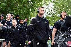 Sean Lonsdale and the rest of the Exeter Chiefs team arrive at Allianz Park - Mandatory byline: Patrick Khachfe/JMP - 07966 386802 - 04/05/2019 - RUGBY UNION - Allianz Park - London, England - Saracens v Exeter Chiefs - Gallagher Premiership Rugby