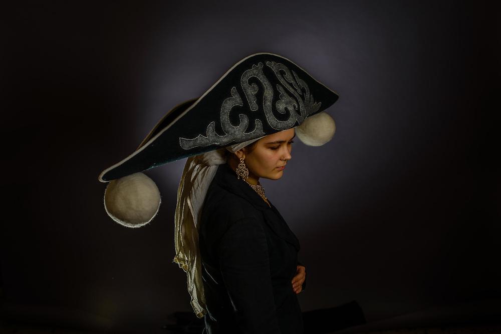 Bicorne Felt Hat, handmade by Rachel Frost