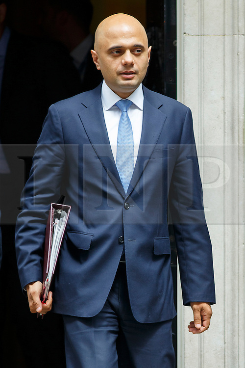 © Licensed to London News Pictures. 09/06/2015. Westminster, UK. Business Secretary SAJID JAVID attending to a cabinet meeting in Downing Street on Tuesday, 9 June 2015. Photo credit: Tolga Akmen/LNP
