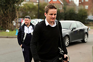AFC Wimbledon manager Neal Ardley and AFC Wimbledon first team coach Simon Bassey  arriving during the EFL Sky Bet League 1 match between AFC Wimbledon and Oxford United at the Cherry Red Records Stadium, Kingston, England on 10 March 2018. Picture by Matthew Redman.