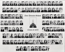 2002 Yale Divinity School Senior Portrait Class Group Photograph