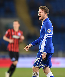 Cardiff City's Aron Gunnarsson - Photo mandatory by-line: Paul Knight/JMP - Mobile: 07966 386802 - 10/02/2015 - SPORT - Football - Cardiff - Cardiff City Stadium - Cardiff City v Brighton & Hove Albion - Sky Bet Championship