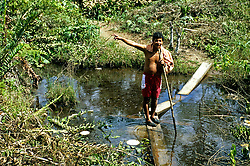 Lago Agria - Shushufindi indigenous people affected by the oil contamination in their natural water supply