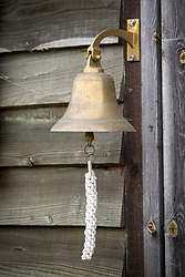 Bell at the entrance to Green and Gorgeous