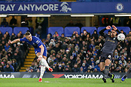 Chelsea Midfielder Ross Barkley shoots at goal during the The FA Cup fourth round match between Chelsea and Sheffield Wednesday at Stamford Bridge, London, England on 27 January 2019.