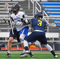 Nolensville Knights Connor Groves (12) during the Nolensville Knights Lacrosse vs Lausanne Collegiate on Saturday, March 2, 2019 at Nolensville High.<br /> Photo Harrison McClary/News & Observer