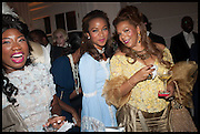 TITO OVIA;; TIMEYIN OLUMIDE;  CARMEN OTEDOLA; , Florence Heoluwa 'Cuppy' Otedola Marie Antoinette Graduation party. Mandarin Oriental, Knightsbridge25th of July 2014.