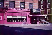 CS02260. Zorba, Rajneesh restaurant. SW Taylor & Ninth. May 1983.