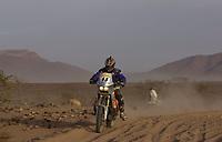 Motor - Motorsykkel: Paris-Dakar 2002. Pål Anders Ullevålseter, Norge.<br />Foto: Eric Vargiolu, Digitalsport