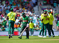 Cricket - 2019 ICC Cricket World Cup - Group Stage: South Africa vs. Bangladesh<br /> <br /> Bangladesh's Mushfiqur Rahim dismissed for 78, caught by South Africa's Rassie van der Dussen off the bowling of  Andile Phehlukwayo, at The Kia Oval.<br /> <br /> COLORSPORT/ASHLEY WESTERN