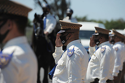 SouthAfrica - Cape Town - 6 October 2020 - The City's Metro Police Department hosted a tree-planting ceremony and unveiled a plaque at the Green Point Precinct Tamarisk horse stables. The ceremony is in commemoration of the late Officer Charlene Moses for her dedication and commitment. Officer Moses passed away from COVID-19.Photographer: Armand Hough/African News Agency(ANA)
