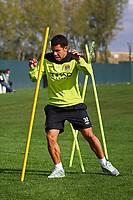 Football - Manchester City Training<br /> Carlos Tevez of Manchester City at the Manchester City training centre, Carrington