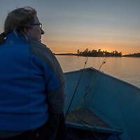 Meredith Wiltsie boats across Lake of the Woods.