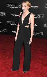 December 10, 2016 - Los Angeles, CA, United States of America - Harley Quinn Smith arriving at the Star Wars ''Rogue One'' World Premiere at the Pantages Theater on December 10 2016 in Hollywood, CA  (Credit Image: © Famous/Ace Pictures via ZUMA Press)