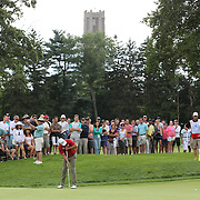 Adam Scott, Australia, putting on the 14th green during the third round of theThe Barclays Golf Tournament at The Ridgewood Country Club, Paramus, New Jersey, USA. 23rd August 2014. Photo Tim Clayton