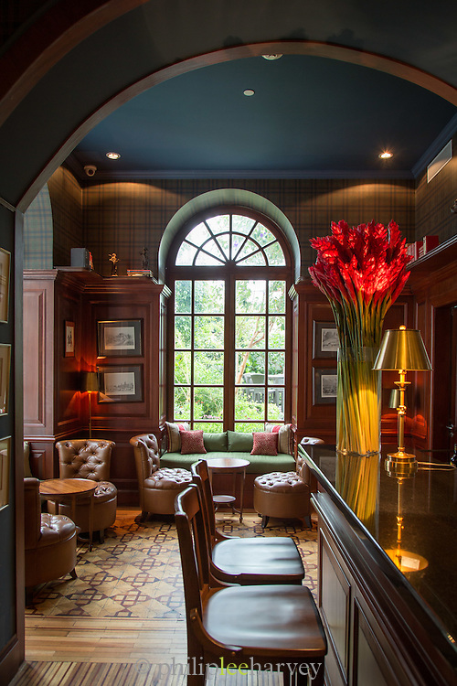 Bar, Casa Gangotena Hotel, Quito, Ecuador, South America