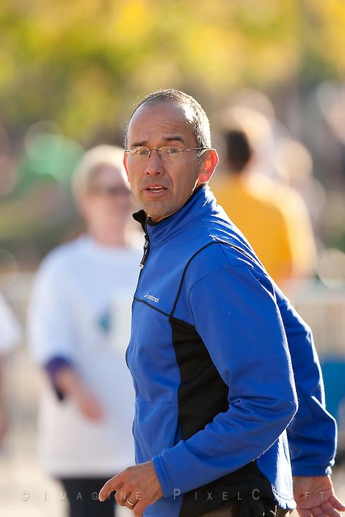 Joe Moreno at the Quad Cities Marathon in 2009.