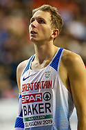 Christopher Baker (Great Britain), High Jump, during the European Athletics Indoor Championships 2019 at Emirates Arena, Glasgow, United Kingdom on 1 March 2019.