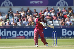 July 1, 2019 - Chester Le Street, County Durham, United Kingdom - Shimron Hetmyer of West Indies batting during the ICC Cricket World Cup 2019 match between Sri Lanka and West Indies at Emirates Riverside, Chester le Street on Monday 1st July 2019. (Credit Image: © Mi News/NurPhoto via ZUMA Press)