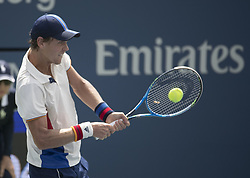 August 31, 2017 - Flushing Meadows, New York, U.S - Tomas Berdych during his match on Day Four of the 2017 US Open with Alexander Dolgopolov at the USTA Billie Jean King National Tennis Center on Thursday August 31, 2017 in the Flushing neighborhood of the Queens borough of New York City. Dolgopolov defeats Berdych, 3-6, 6-1, 7-6(7-5, 6-2. (Credit Image: © Prensa Internacional via ZUMA Wire)
