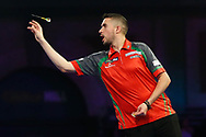 The Fireball Jamie Leiws during the PDC World Championship darts at Alexandra Palace, London, United Kingdom on 14 December 2018.