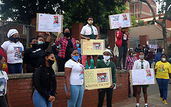 South Africa - KwaZulu Natal - 14 July 2020 - Justice for BOBO Verulam magistrate court - Outside the Verulam magistrate court this morning were a liotof people from the comunity, family and school mates of the late Andile (Bobo) Mbuthu. thiscase has been ajuned for the 22 of July due to the unsafety of the building because of the COVID 19 infection. it was not safe for people to go inside. Picture: Nqobile Mbonambi/ Africannewsagency(ANA)