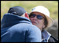 August 5, 2017 - United Kingdom - Image licensed to i-Images Picture Agency. 05/08/2017. Gatcombe Park, United Kingdom. Mike Tindall kisses his mother in law Princess Anne on the second day of the Festival of British Eventing at Gatcombe Park, United Kingdom.  Picture by Stephen Lock / i-Images (Credit Image: © Stephen Lock/i-Images via ZUMA Press)