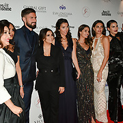 Eva Longoria and teams Arrivers at The Global Gift Gala red carpet - Eva Longoria hosts annual fundraiser in aid of Rays Of Sunshine, Eva Longoria Foundation and Global Gift Foundation on 2 November 2018 at The Rosewood Hotel, London, UK. Credit: Picture Capital